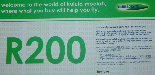 photo of Kulula moolah