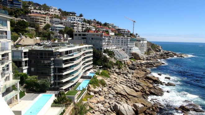 View From The Rooftop Parking At Ambador Hotel In Bantry Bay Cape Town