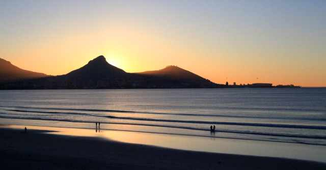sunset at lagoon beach in Cape Town
