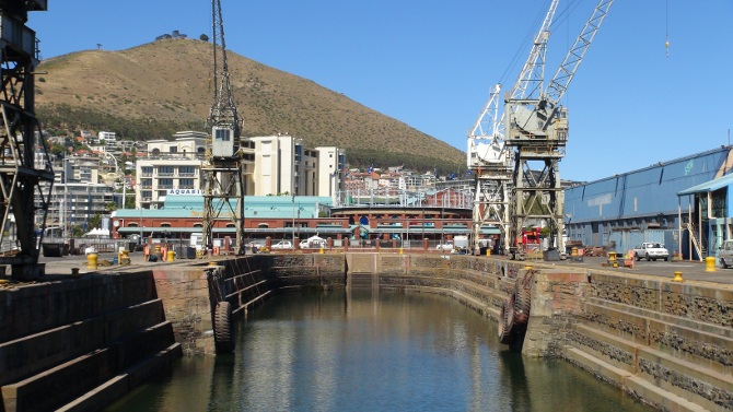dry dock at Cape Town's V&A Waterfront
