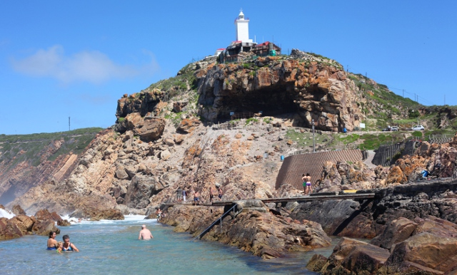 Cape St Blaise Lighthouse in Mossel Bay