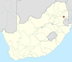 map of South Africa with Nelspruit in it