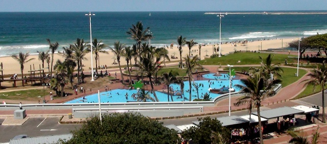 view of the Durban beachfront from the Garden Court South Beach