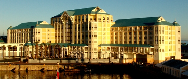 The Table Bay Hotel in the morning sunrise