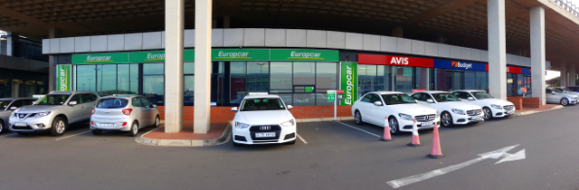 Europcar and Avis-Budget offices at Durban's King Shaka International Airport