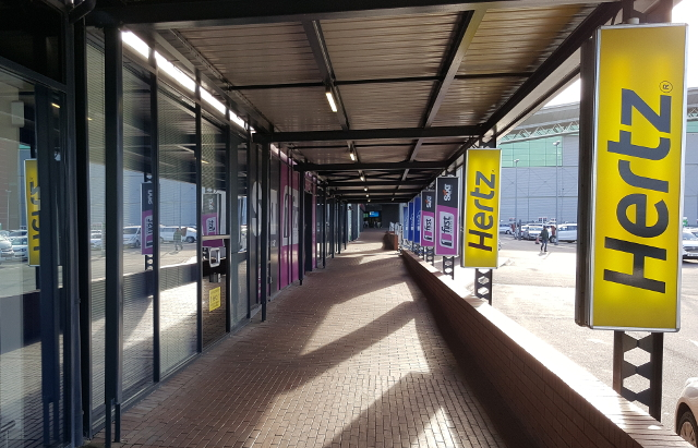 Hertz signposts & offices at Durban Airport (DUR)