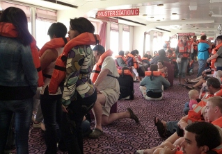 Safety drill onboard the MSC Melody