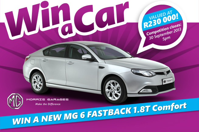 win an MG6 with First Car Rental