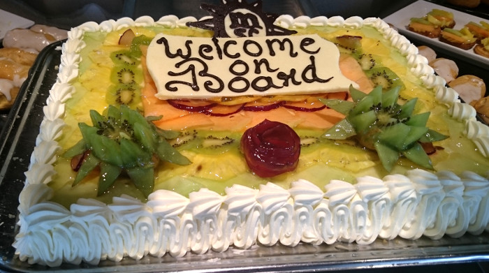 Welcome on Board cake