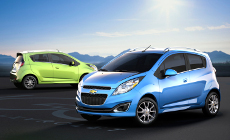 Green and Blue Chevrolet Sparks