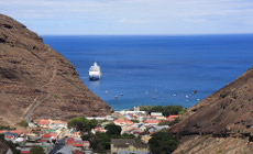 MSC Sinfonia at anchor off St Helena Island