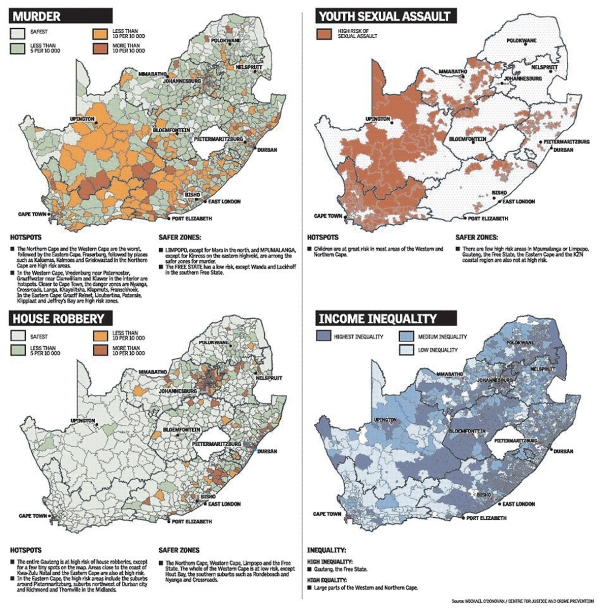 South Africa Crime Map