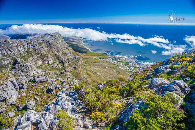 Table Mountain with Camps Bay at the bottom