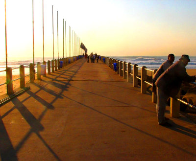 Durban beach pier in the morning light