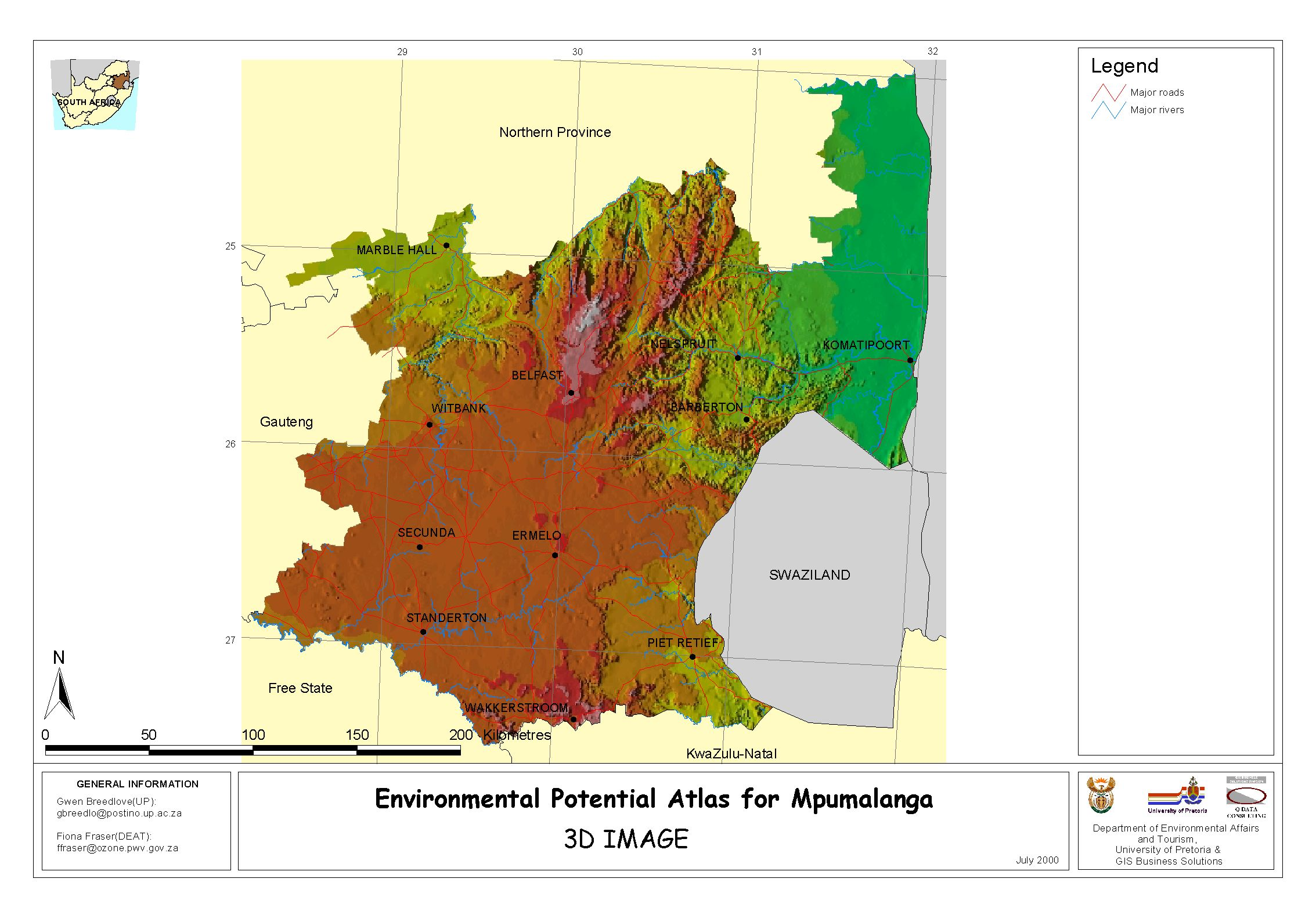 Mpumalanga Map Regions Map of Mpumalanga by