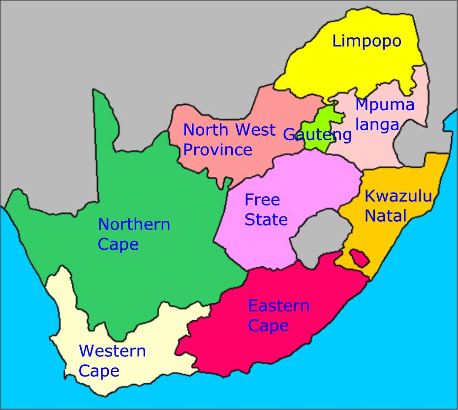 South African Native Plants: South Africa's Provinces