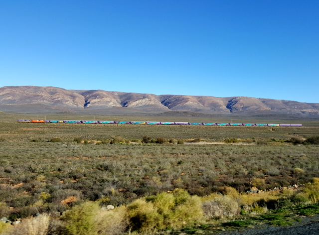Shosholoza Meyl train on its way through the Karoo (picture from N1)