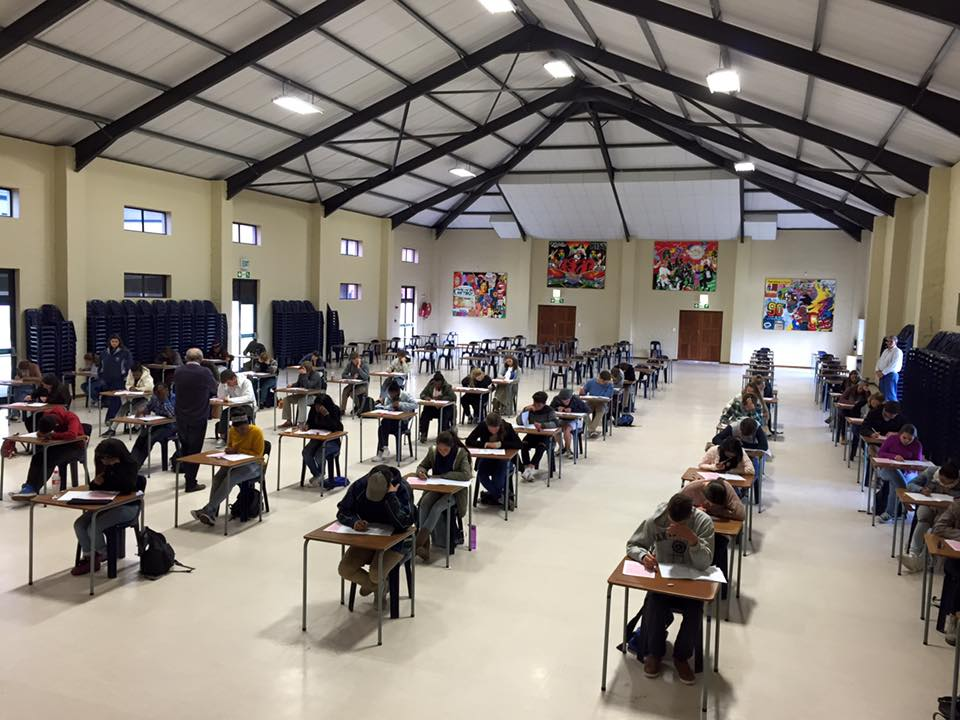 Students writing an exam at Curro, Hermanus