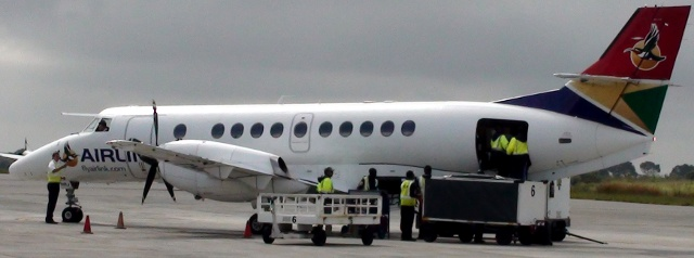 Airlink aircraft parked at Kruger Airport