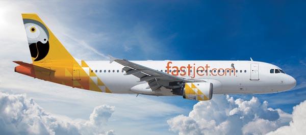 fastjet aircraft's branding