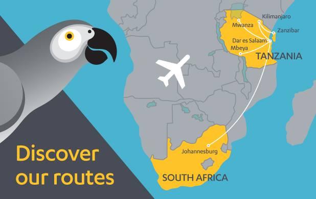 Fastjet Flights From Johannesburg To Dar Es Salaam Tanzania Map Onward Flight