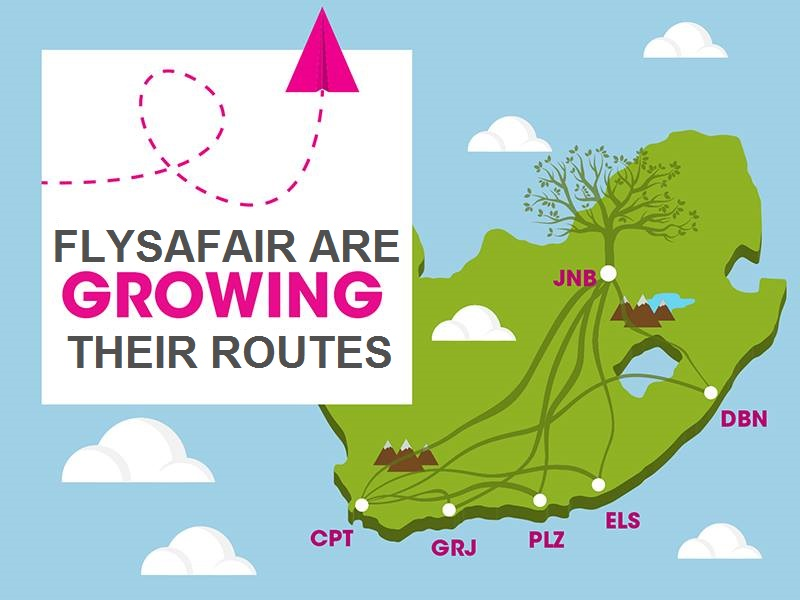 FlySafair new routes.