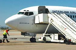 Interlink Airlines plane on the tarmac