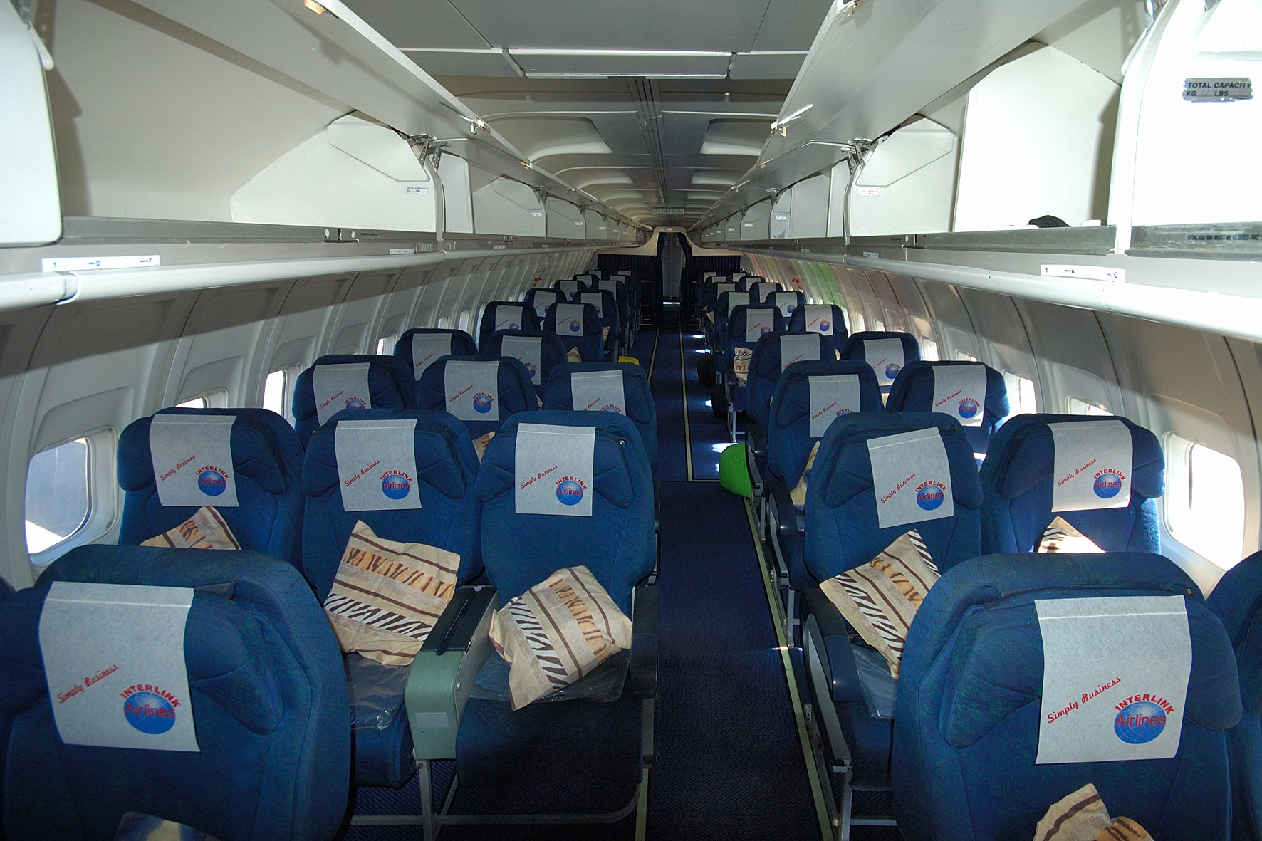 Inside Of An Interlink Airlines Plane