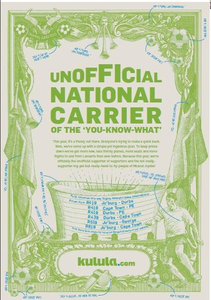 """Unofficial National Carrier of the you know what"" : Kulula's original ad which got them into trouble with Fifa"