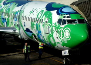Kulula aircraft parked at Johannesburg Airport O.R. Tambo International