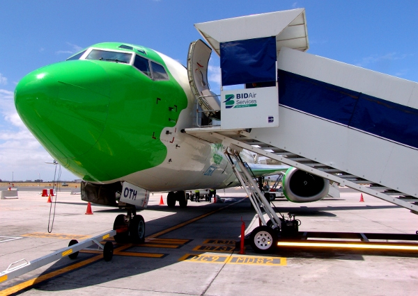 the nose of a Kulula airlines plane