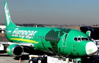 Kulula Airline Europcar branded aircraft