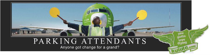 Kulula parking attedants billboard