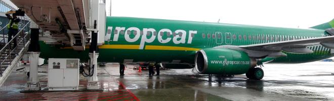 Kulula's Europcar branded plane