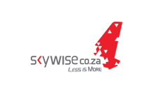 "Skywise logo ""Less is more""."