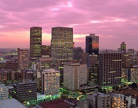 Johannesburg City skyline at night