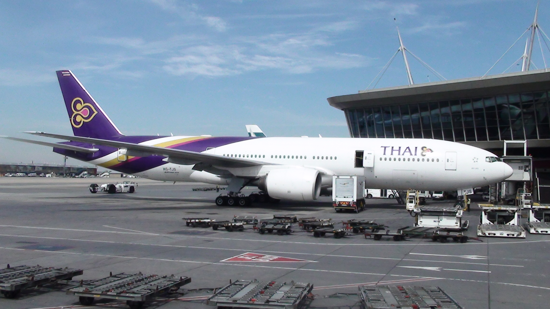 Download this Thai Airways Plane Parked Tambo International Airport picture