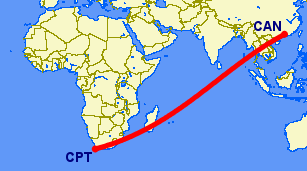 Cape Town to Guangzhou
