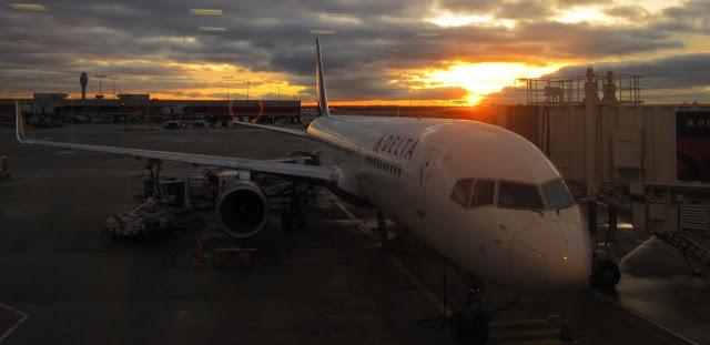 Delta Airlines plane in Atlanta, USA