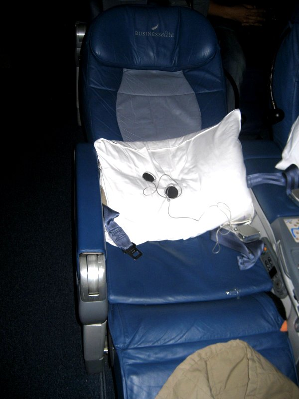 business class seat on a