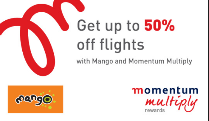Mango Momentum flight discounts