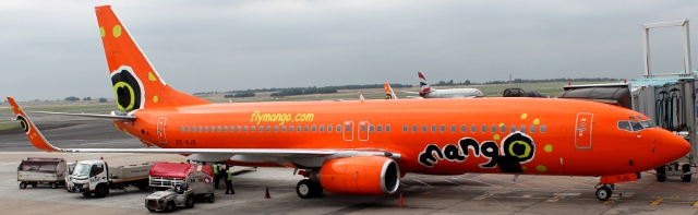 Mango plane at Johannesburg O.R. Tambo International Airport