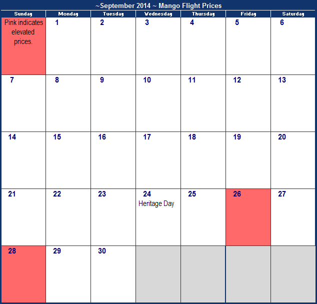 Flexible Search Calendar - Blog | Airfarewatchdog