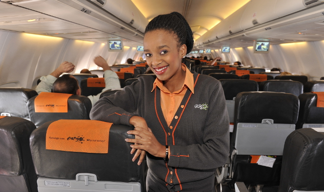 Mango Airlines Air Hostess Inside A Boeing 737 800