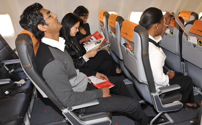 New seats on Mango Airlines planes with more legroom