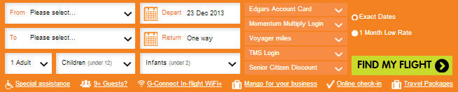 Mango flight bookings tool