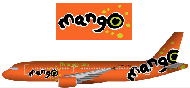 Mango Airlines livery