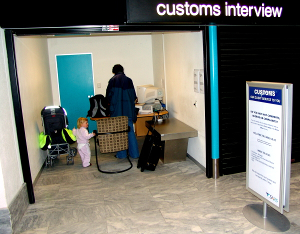 customs interviews at Cape Town International Airport