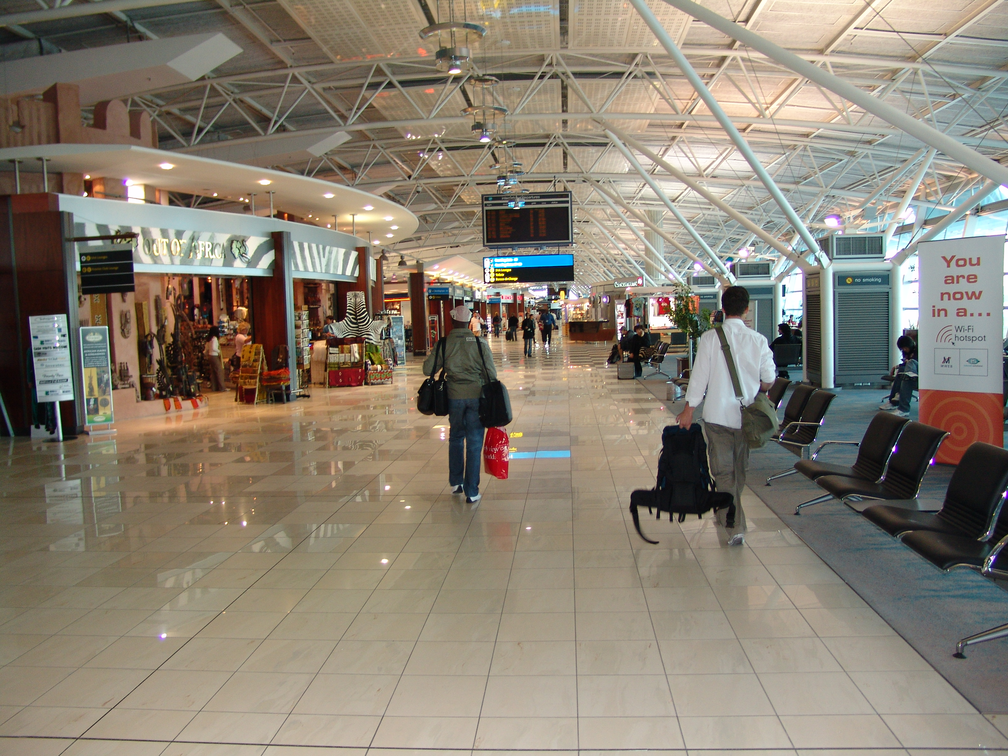 International Departures At Cape Town Airport