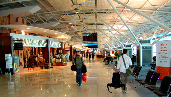 International departures at Cape Town International Airport